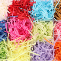 Wholesale-20g / packs Raffia papier Raffia Jute Wedding Party Cadeaux Candy Matériel d'emballage Box Filler Fournitures