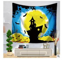 Wholesale Twin Bedspreads Wholesale - 3D Tapestry Christmas Halloween Decoration Wall Hanging Skull Throw Bohemian Twin Bedspread Beach Yoga Mat 200 Style Decor Free Shipping