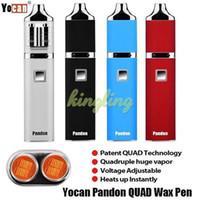 Wholesale Ecigarettes Kits - Yocan Pandon QUAD Wax Pen Starter Kits 1300mAh Battery QDC Coils Tank vs Yocan Evolve Plus Ecigarettes Starter Wax Pen Evolve-D Plus Kits