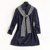 Wholesale Silk Neck Ties Xl - 2017 European single breasted cardigan wave tie long silk shirt