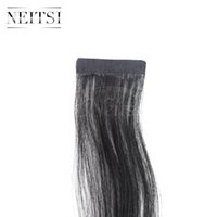 Wholesale Discount Tape Hair Extensions - Discount 22''10Pcs pack 2.2g pc Tape in Brazilian Human Hair Extension Straight Highlight PU Skin Weft Hair Weave Hair Weft 8Colors