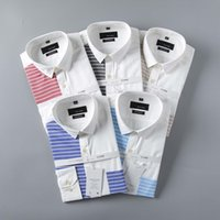 Wholesale Mens Striped Dress Shirt - 2017 Brand Men's Business Casual shirt mens long sleeve striped slim fit camisa masculina social male shirts new fashion shirt #902