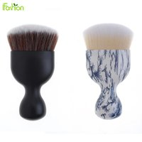 Wholesale Wine Facial - Wholesale-Wine Glass Shape Short Handle Makeup Facial Blush Power Concealer Foundation Brush Make Up Brushes Comestic Tool Maquiagem
