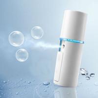 vapores de belleza al por mayor-Mini Atomizador Portátil Aerosol Facial Vapor Facial de Viaje Nanómetro Mister Sprayer SPA Sauna Nebulizador Belleza Hidratante Cuidado de la Piel Herramienta