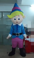 Wholesale Mascot Elf - SX0728 With one mini fan inside the head hermey the elf mascot costume for adults to wear