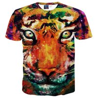 Wholesale Sell 3d Tshirt - 3D T shirts Hot selling New style Animals print T-shirt men boy 3d tshirt funny print watercolor galaxy Tiger T shirt summer tops