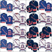 Wholesale Xl Wine Glasses - 2017 New York Rangers 4 Adam Clendening 9 Adam Graves 10 Ron Duguay 13 Kevin Hayes 15 Tanner Glass 18 Marc Staal Ice Hockey Jerseys stitch