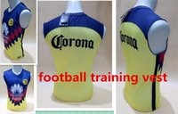 Wholesale Football Training Vests - 2017 america ciulb sleeveless soccer shirts football training vest soccer Top Quality America club soccer sleeveless jersey free shipping