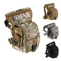 Wholesale waist pack leg bag - Outdoor Sports Bag Waterproof Motorcycle Waist Fanny Pack Hip Rider Tactical Military Drop Leg Bag CCA7346 50pcs