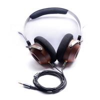 Wholesale voice cabling - OKCSC Wooden Headband Headphones Vintage Style DIY Open Voice HiFi Stereo Earphones Heaset Can Change Cable