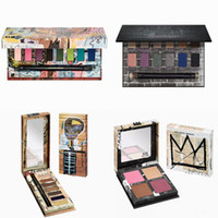 1 painting palette - Jean Michel Basquiat painting Gold Griot Tenant Eyeshadow Matte Diamond Glitter Shimmer Eye Shadow Palette colors for Beauty with brush