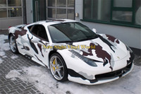 Wholesale snow camo car resale online - Arctic Snow Camo Vinyl Wrap Snow Arctic Camouflage Vinyl Car Styling Bubble Free For Car Sticker