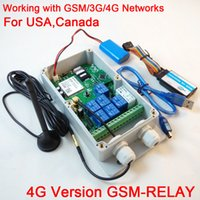 Wholesale Gsm Switch Box - Wholesale- New designed 1 pcs 7CH Real-Time GSM  3G 4G Remote Control Relay Output Contacts Switch Box android and ios app supported