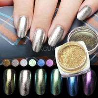 Vente en gros - 1pc Mirror Powder Gold Nail Glitters Ultrafine Aluminium Powder Chrome Pigment Nail Sequins Nail Art Décoration Y2