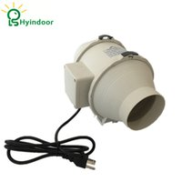 Wholesale Fan Hydroponic - Hydroponic Grow Room 4 Inches Mixed Flow Inline Ventilation Duct Fan Blower