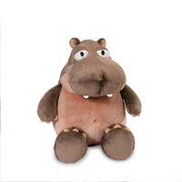 "Wholesale Giant Stuffed Plush Hippo - Grey Giant Huge Big Fat Hippo 27"" Plush Stuffed Animal Stuffed Horse"