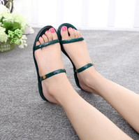 Wholesale Womens Shoes Gladiator - Summer Fashion Flip Flops Womens Beach Sandals String Bands Flat Shoes Gladiator Sandalias Mujer for Women