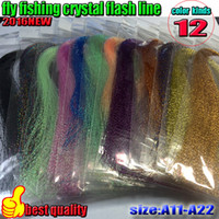 Wholesale HOT fly fishing crystal flash line color fishing line lure line fly fishing tying material thread bag length is CM