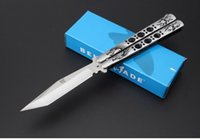Wholesale Benchmade JL Dragon Tiger Butterfly Swing Knives steel shank sanding EDC outdoor hunting knives