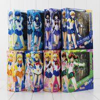 Wholesale venus gifts - Anime 15cm Sailor Moon Mars Venus Mercury Jupiter Saturn Uranus Neptune 8*Style for choose Toy PVC Figure Model Gift free shipping