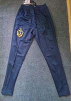 Wholesale Galaxy Trousers - LA Galaxy deep blue long pants 17 18 outdoor soccer long trousers sports training soccer shorts men's casual soccer trousers football wear
