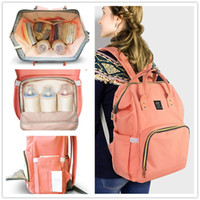 Wholesale Outdoor Travel Backpacks - Land Brand Mommy Backpacks Nappies Bags Mother Maternity Diaper Backpack Large Volume Outdoor Travel Bags Organizer 14 colors Free DHL MPB01