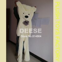 Wholesale Empty Teddies - Wholesale- teddy bear 200cm empty shell coat bear skins with zipper Christmas Valentine's Day, birthday Gifts Plush toys factory