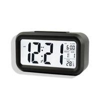 Wholesale Multi Desk Clock - Wholesale-Digital Desk Clocks Calendar Thermometer Large LCD Table Clocks Multi-functional Alarm Clock LED Display Electronic Desk Clock