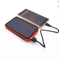 güç bankası bateria externa toptan satış-Yeni stil Su Geçirmez güneş enerjisi banka 30000 mah bateria eksterna tüm Cep telefonu için solar şarj powerbank şarj