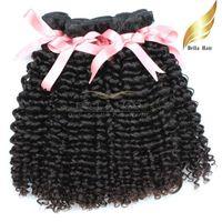 18 zoll peruanische webart großhandel-Peruanisches lockiges Haar spinnt Remy Menschenhaar Bundles 10-34 Zoll Grade 9A 3 Stücke viel natürliche Farbe Bellahair