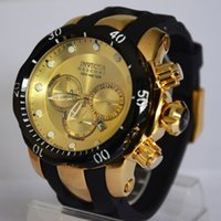 Wholesale Eyes Mm - Three Eyes Working Multifunctional Sports Watches INVICTA Fashion Mens Watches Hot Selling Date Male Wristwatch Assista Men