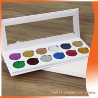 Wholesale Trade Easy - European and foreign trade new GLITTER EYES PRESSED 12-color sequins eye shadow shiny gold powder modified eye shadow plate