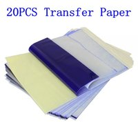 Wholesale A4 Size Transfer Paper - Wholesale- 20pcs Tattoo Stencil Transfer Paper A4 Size Thermal Copier Paper Supplies Tattoo Accessories For Tattoo Supply Free Shipping