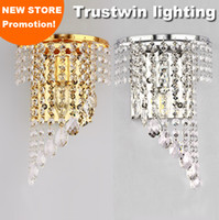 pair light wall sconces - Left Right a pair of light chrome silver wall lamp sconce gold foyer living bedroom bedside wall lamp light sconce with crystal