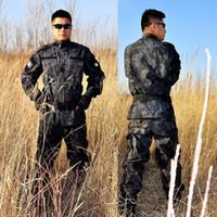 Wholesale Acu Bdu - Ripstop BDU ACU Camouflage Suits Army outdoor Jacket Set combat Airsoft uniform US Army Clothing ACU Version Combat Uniforms Set