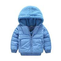 Wholesale Lambs Fur Vest - Children Outerwear Coats Boys Lamb fur Coat Thick Warm Kids Jacket + Vest 2 Pieces Set Winter girls Down & Parkas