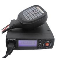 Wholesale Vhf Radio Car Dual - Baojie BJ218 Mini Mobile Radio Transceiver BJ-218 25W Dual Band VHF UHF136-174 400-470 MHz Ham Radio for Car Bus Taxi same as KT8900 KT-8900
