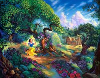 Wholesale Anime Figures Nude - Thomas Kinkade Landscape Painting Reproduction High Quality Giclee Print on Canvas Modern Art Decor Anime beautiful princess HD Picture JH12