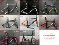 bisiklet bisikleti çerçevesi toptan satış-Yeni MCipollini NK1K T1000 1 K veya 3 k çerçeve Tam Karbon Yol Bisikleti Çerçeve, çatal, kulaklık, seatpost Boyutu: XXS, XS, S, M, L, bisiklet frameset