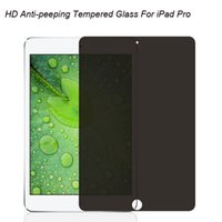 Wholesale Glass For Ipad4 - Hotting Wholesale Anti-Peeping Privacy Tempered Screen Protector for iPad4 5 Air Tablet Screen Protector 9H High Quality Anti-Scratch Glass