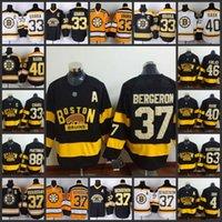 Wholesale Brad Marchand - #37 Patrice Bergeron Boston Bruins Hockey Jersey 63 Brad Marchand 40 Tuukka Rask 33 Zdeno Chara 46 David Krejci #88 David Pastrnak