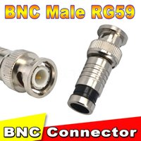 Nouveau 1pcs CCTV RG59 coaxial BNC torsion masculine sur connecteur Coupleur câble de compression RG59 COAXIAL CCTV Camera