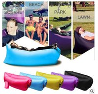 Wholesale Fast Inflatable Sofa Air Sleeping Bags Beach Lounger Hangout Couch Portable Camping Hiking Beds Lazy Beach Outdoor Lay Chairs DHL
