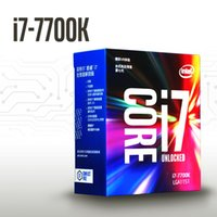 Wholesale Socket Thread - Original Intel CPU Core I7 7700K Processor 4.2GHz 8MB Cache 4 Core 8 Thread Socket LGA1151 14nm Dual-channel DDR4 2133 DDR3L 7700