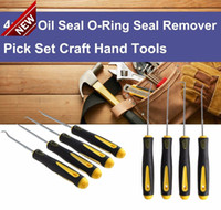 Wholesale Glass Picks - 4Pcs Set Durable Car Hook Oil Seal O-Ring Seal Remover Pick Set Craft Hand Tools Free Shipping