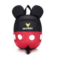 Canvas blue and brown backpack - 2017 New Mickey and Minnie Kids Backpack Children School Bag For Girl Boy Student Schoolbag Kindergarten baby cute bags