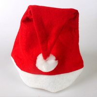 Wholesale Santa Claus Christmas Cap - 1000pcs New Christmas Supplies Cap Thick Ultra Soft Plush Santa Claus Christmas Holiday Hat 30*40cm Christmas Cap Santa Caus Hat