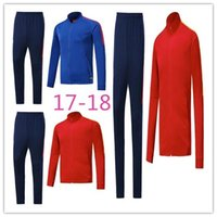 Wholesale New Train Sets - AAATop quality 17 18 Rome Sweater Long Sleeve Training uniform Rome 17 18 New Sweater Tracksuit Set Soccer Training Suit