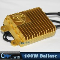 Wholesale H7 Globe - 100W HID Bi-Xenon Conversion Light Slim Ballast Kit Bulb Globes Bi-Beam 6000K 12V Hid Ballast Cars H1 H7 9006 Hid Ballast Truck