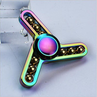Wholesale Toys Factory Outlets - 2017 factory Outlet Rainbow Lightning Hand Spinner Toy perfect alloy fingger spinner for ADD,ADHD,Anxiety ,stress relief and boredom